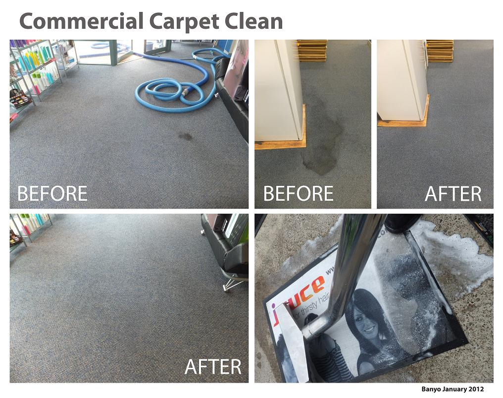 commercial carpet cleaning results