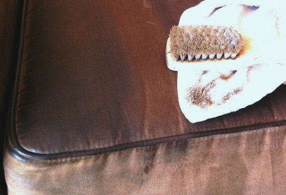 Dirty Upholstery Cleaning test